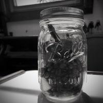 Mason jar coffee