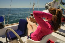 Sailing in shorts!