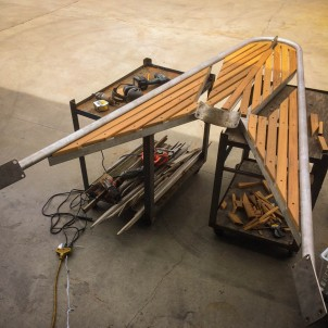 The new bowsprit fit back onto the boat without any additional adjustments needed. MAGIC!